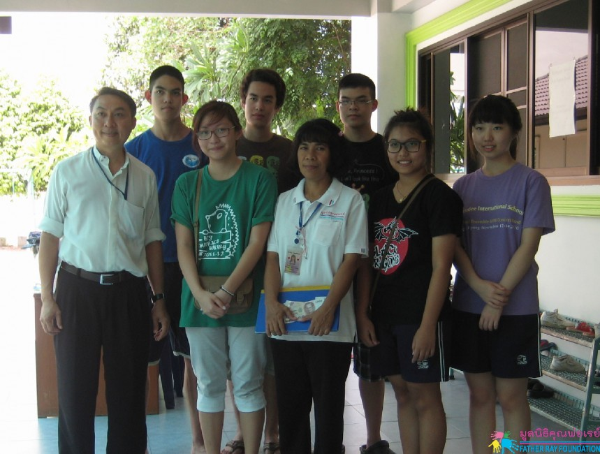 นักเรียนโรงเรียนนานาชาติร่วมฤดีฯ ทำกิจกรรมวาดภาพระบายสีผนังตึก
