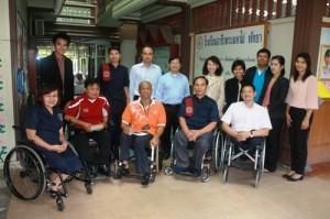 สำนักงานส่งเสริมและพัฒนาคุณภาพชีวิตคนพิการ (พก.) และคณะเยี่ยมชมการดำเนินงานของมูลนิธิพระมหาไถ่ เพื่อการพัฒนาคนพิการ