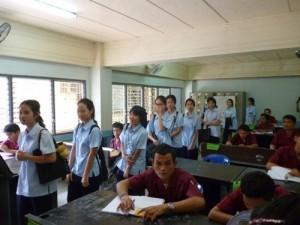 คณะอาจารย์และนักเรียนโรงเรียนพระมารดานิจจานุเคราะห์ กรุงเทพฯ เยี่ยมชมและศึกษาดูงานโรงเรียนอาชีวพระมหาไถ่ พัทยา