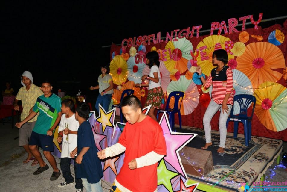 Colorful Night Party of New Year