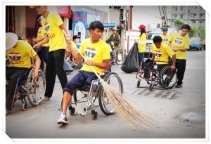 ทำความสะอาดถนนวันพ่อแห่งชาติ